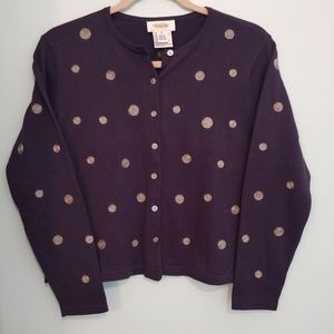 Talbots sweater, S, blue button down